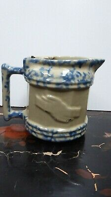 Vintage Australian Pottery Small Porcelain Kettle Mottled Blue Glaze Ceramic