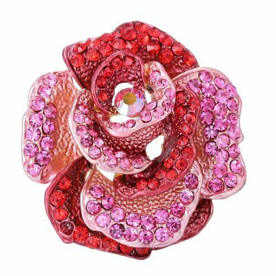 Fashion Flower Plant Crystal Women Lady Brooch Pin Breastpin Jewelry Hiliday New