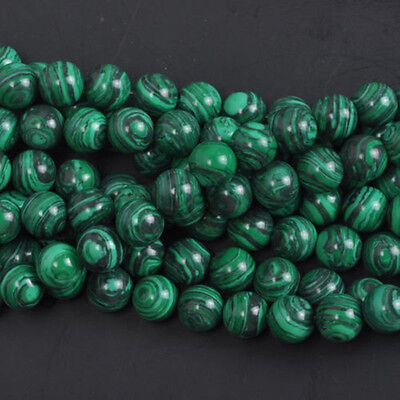 Green Malachite Lot Natural Gemstone Round Spacer Loose Stone Beads Wholesale