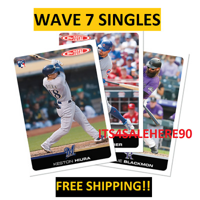 2019 Topps Total Wave 7 Singles ***ONLY 366 MADE*** QUANTITIES & PHOTOS UPDATED
