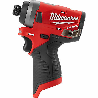 Milwaukee M12 FUEL Cordless 1/4in Hex Impact Driver - Tool Only, Model# 2553-20