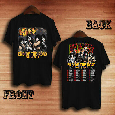 kiss band Tour end of the road world tour 2019 T-shirt tee all size 100% cotton