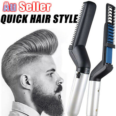 Quick Beard Straightener Cap D Curler Multifunctional Hair Comb Curling Show Men
