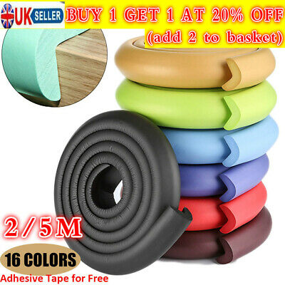 2/5M Table Guard Strip Edge Corner Protection Baby Safety Desk Soft Foam Sponge
