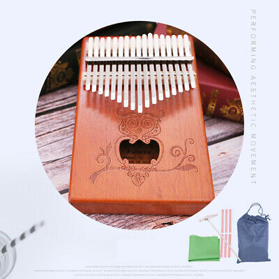 17 Keys Kalimba Single Board Mahogany Thumb Piano Mbira Keyboard Instrument Gift