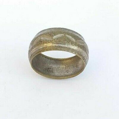 Ancient Ring Of Weeding, Handmade Bronze Ring Artifact Very Old Extremely Rare