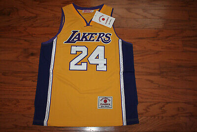 NBA Los Angeles Lakers #24 Kobe Bryant Throwback Men's Jersey w/Tags  Size 56
