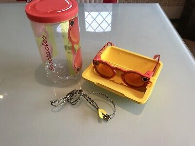 Snapchat Spectacles. Never Used. Perfect Condition. Coral/Red