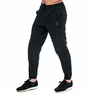 Mens Reebok Training Supply Woven Jog Pants In Black