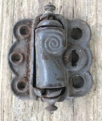 Antique Salvage3x3 Cast Iron Spring Loaded Screen Storm Door Hinges Old Hardware