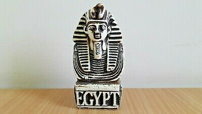 RARE ANCIENT EGYPTIAN FIGURINE STATUE PHARAOH KING King Tut STONE(BLACK&WHITE)