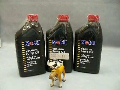 Vacuum Pump Oil SAE 20 m-2792-yp Mobil 1 qt bottles Lot of 3