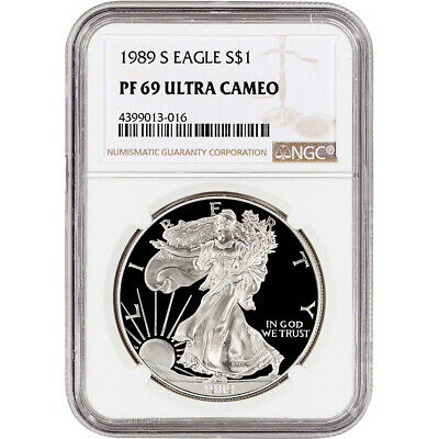1989-S American Silver Eagle Proof - NGC PF69 UCAM