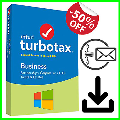 Turbotax Business 2018 Win / Fed & Efiles USA SELLER Partnerships Corps LLCs PC