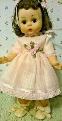 """SSO DOLL CLOTHES NEW PINK DIMITY DRESS & PANTY for 7-8"""" VINTAGE GINNY MUFFIE"""