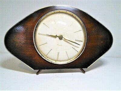 1960's WESTCLOX MANTLE CLOCK, DIAMOND SHAPED, REPRO WITH CLASSIC ART DECO LOOK