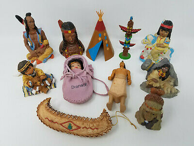 JUNK DRAWER LOT - Native American Indian Figurines & Collectibles