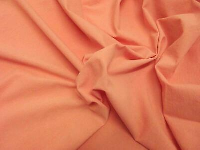 Quality Plain 60 SQ Pure Cotton Fabric Material - DUSTY PINK