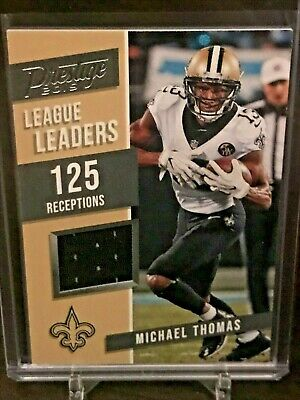 MICHAEL THOMAS 2019 Panini Prestige Football LEAGUE LEADERS JERSEY NOLA SAINTS