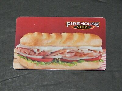 Firehouse Subs Gift Card NO $ VALUE -NEW-