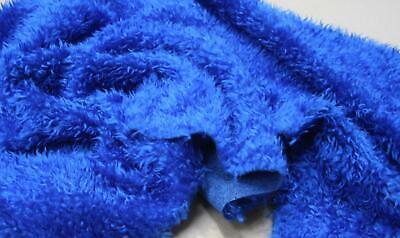 CURLY Teddy Faux Fur Fabric Material - ROYAL BLUE