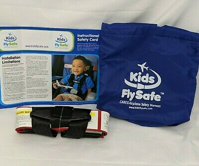 CARES Kids Fly Safe Airplane Child Safety Harness Seatbelt w/ Carry Bag - New