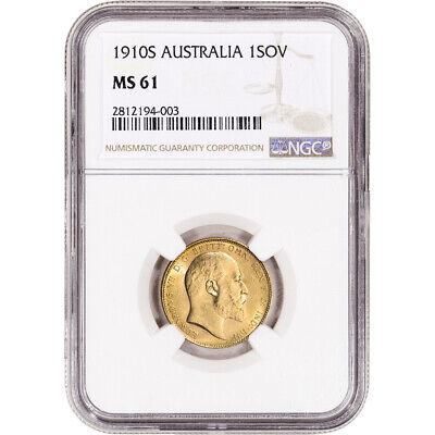 1910 S Australia Gold Sovereign - NGC MS61