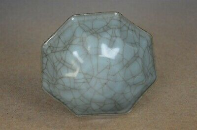 Delicate Antique Chinese Crackle Porcelain Bowl Rare W0190
