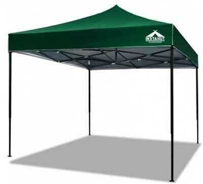 Instahut Outdoor Gazebo Pop Up Tent  Camping Canopy Folding Marquee 3x3m Green