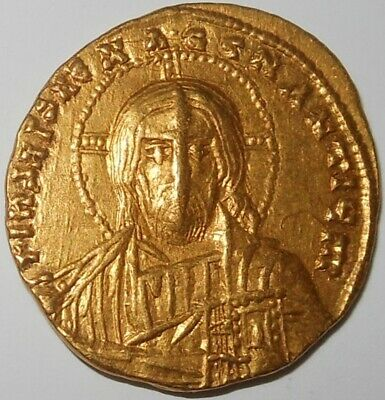 Jesus Christ Pantocrator Icon Real Portrait - Byzantine Empire gold solidus coin