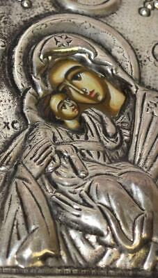 Vintage Sterling Silver Hand Made Sacred Image Byzantene Icon