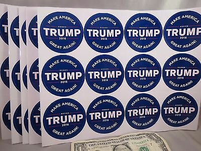 Wholesale Lot 60 Donald Trump Make America Great Again Lapel Stickers President