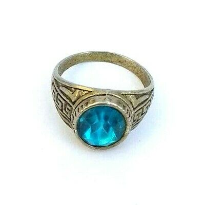 Extremely Ancient Antique Rare Ring Viking Old With Stone Museum Quality