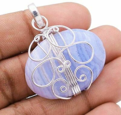 Must Have Natural Crazy Lace Agate 925 Sterling Silver Pendant Jewelry, H9-2