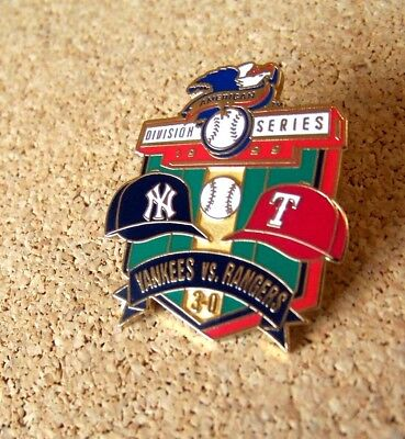 1999 NY New York Yankees AL American League Division Champions pin ALDS Rangers