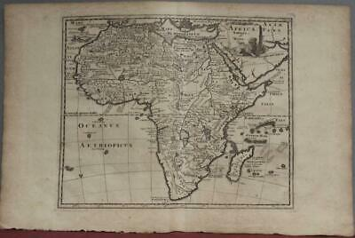 African Continent 1697 Philipp Clüver Antique Original Copper Engraved Map