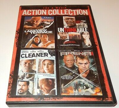 4-Movie Action Collection Cleaner Unthinkable Arena Lakeview (DVD, 3-Discs) WS