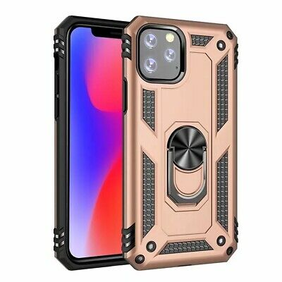 Gold High impact Armor Magnetic kickstand Case cover skin with ring for phone