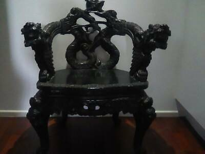 Old Chinese Wooden Carved Chair