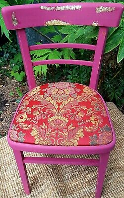 Vintage Chair Red Chair Upcycled Chair