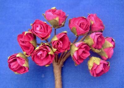 Dolls House Flowers 12 Red Roses  #65ac