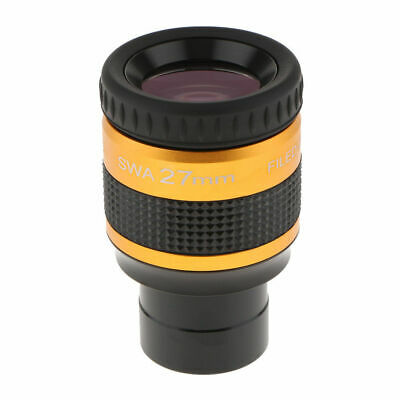 1.25' SWA Super Wide Angle 70-Deg 27mm Achromatic Eyepieces for Astronomical
