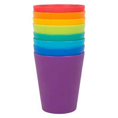 Set Of 8 Children's Plastic Reusable Cups Picnic BBQ Outdoor Use Kids