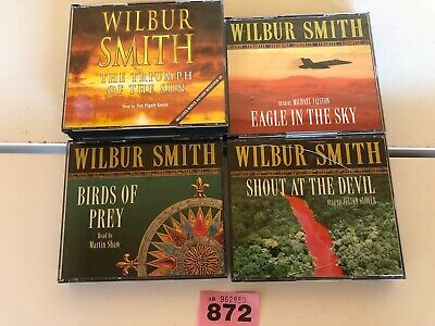 BUNDLE  4 ACTION ADVENTURE CD AUDIO BOOKS WILBUR SMITH Eagle In The Sky +