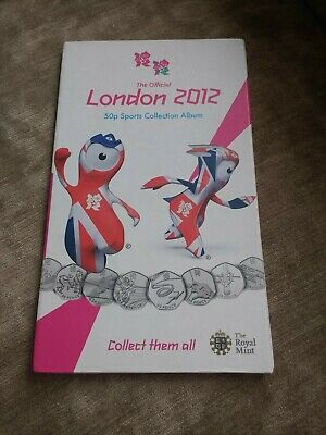 The Official Olympic London 2012 50p coins Sports Collection Album With 24 Coins
