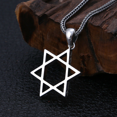 925 Silver Fashion Jewelry Six-Man Star Men's And Women's Pendant Necklace
