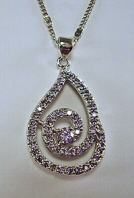"Deluxe! Sterling Silver Bolivian Amethyst Spiral Pendant with 18"" Chain"