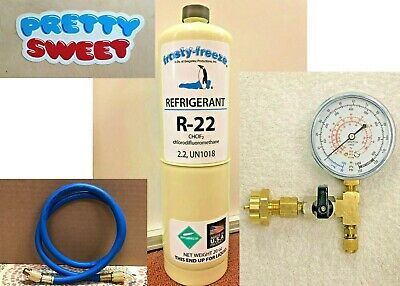R22, R-22, Refrigerant 22, Air Conditioning, Refrigeration, 20 oz Can, Kit M