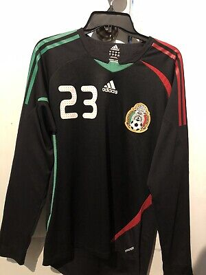 MEXICO JERSEY GOALKEEPER Authentic Adidas Size SMALL world cup ...