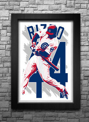ANTHONY RIZZO art print/poster CHICAGO CUBS FREE S&H! JERSEY